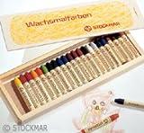 Stockmar Wachsmalstifte - 24 Farben im Holzkasten