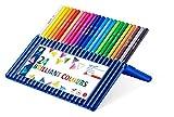 Staedtler Ergosoft Colored Pencils, Set of 24 Colors in Stand-up Easel Case (157SB24), brillante Farben
