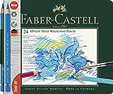 Faber-Castell 117524 - Aquarellstifte Albrecht Dürer, 24er Metalletui