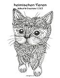 Malbuch mit heimischen Tieren für Erwachsene 1, 2 & 3