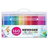 160 Farbstifte-Set von Newdoer, beste Farbstifte für Künstler, Comic-Illustrationen, Innenarchitekten, Schüler, Künstler und Erwachsene, Weihnachtsgeschenk