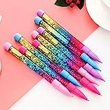 InvocBL Glitter Pailletten 0,5 mm blaue Tinte Kugelschreiber Kunststoff Tintenroller für Schüler Schule Büro Rosa