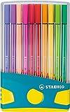 Premium-Filzstift - STABILO Pen 68 - ColorParade in türkis - 20er Pack - mit 20 verschiedenen Farben
