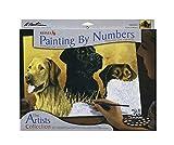 REEVES Malen nach Zahlen ' Artist Collection ' für Erwachsene, 30x40cm, 20 Farben, Motiv - Labradore