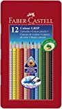 Faber-Castell 112413 - Buntstifte Colour GRIP, 12er Metalletui