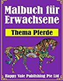 Malbuch für Erwachsene: Thema Pferde