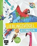 Tierisch geometrisch - Malen nach Zahlen: Lieblingsvögel ausmalen: Mit Ausmalposter im XL-Format