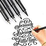 InvocBL Soft Pen Copybook Kalligraphie Art Sketch Nachfüllbarer Pilot Water Brush Ink Pen mit Tinte 1 extra feine Spitze