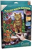 Mammut 110018 - Malen nach Zahlen Classic Collection-Katze, ca. 22,8 x 30,4 cm