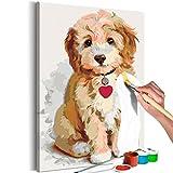 murando - Malen nach Zahlen Hund Welpe 40x60cm Malset DIY n-A-0313-d-a