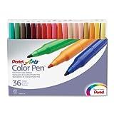 Pentel S360-36 Faserschreiber Colour Pen 36er Set sortiert