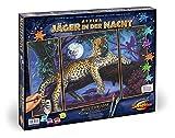 Schipper 609260607 609260607-Malen nach Zahlen Afrika Jäger In Der Nacht (Triptychon), 50 x 80 cm
