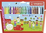 Filzstift - STABILO Trio A-Z - 24er Pack - mit 24 verschiedenen Farben