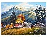 Yangll Malen Nach Zahlen Mountain Forest DIY Zusammenfassung Bauernhaus Ölgemälde Auf Leinwand Herbst Cuadros Decoracion Acryl Wandkunst, Keine Framed40X50cm