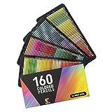 160 Buntstifte (Nummeriert) Zenacolor - Einfache Aufbewahrung - Professionelles Stifte-Set für Erwachsene und Kinder - Ideal für Ausmalbilder Erwachsene, Mandala, Malbuch, Schreibgeräte und Schule