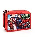 Marvel The Avengers 63224 Federtasche, Federmäppchen, 3-stöckig gefüllt 44 Teilen