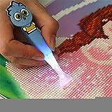 hook.s Point Drill Pen, DIY Diamant Malerei Strass Zeichenwerkzeug, Stylus Pen mit Led-Licht für den Nachtbetrieb