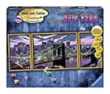 Ravensburger 28951 Skyline von New York Malen nach Zahlen Premium Triptychon, 100 x 40 cm