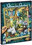Schipper 609130662 - Malen nach Zahlen, Gänse im Garten, 40 x 50 cm