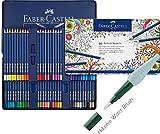 Faber-Castell Farbstifte ART GRIP Aquarelle (60er Metalletui | inkl. Water Brush)