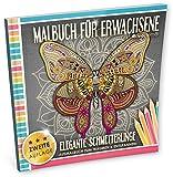 Malbuch für Erwachsene: Elegante Schmetterlinge (Ausmalbuch zum Träumen & Entspannen)