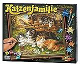 Schipper 609130361 609130361-Malen nach Zahlen-Katzenfamilie, 40x50cm