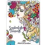 Zauberhafte Feenwelt - Malbuch für Erwachsene mit Anti-Stress-Wirkung - Das Spiral-Ausmalbuch von Colorya, auf DIN A4 Künstlerpapier gedruckt, ohne Durchdrücken - Malbuch Erwachsene