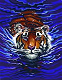 Mammut 110007 - Malen nach Zahlen Classic Collection-Schwimmender Tiger, ca. 22,8 x 30,4 cm