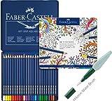 Faber-Castell Farbstifte ART GRIP Aquarelle (24er Metalletui | inkl. Water Brush)