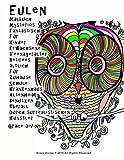 Eulen Malbuch mysteriös Fantastisch Für Kinder Erwachsene Teenageralter Retirees ältlich Für Zuhause Schule Krankenhaus Altenheim Benutzen Überall Durch surrealistischen Künstler Grace Divine