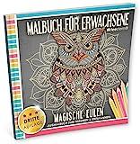 Malbuch für Erwachsene: Magische Eulen (Ausmalbuch zum Träumen und Entspannen)