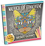 Malbuch für Erwachsene: Fabelhafte Katzenwelt (Ausmalbuch zum Träumen & Entspannen)