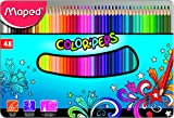 Maped M832058 - Buntstifte Color'Peps für Erwachsene in Metallbox, mehrere Farben, 48 Stück