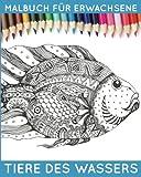 Malbuch für Erwachsene: Tiere des Wassers