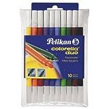 Pelikan Faserschreiber Colorella Duo C407/10 10 Farben dick/dünn
