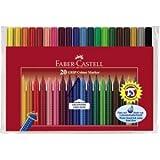 Faber-Castell Fasermaler Grip Colour Marker 20er Etui farbig sortiert