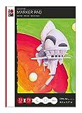 Marabu 1612000000401 - Marker Pad Graphix, Markerblock DIN A4, 75 Blatt 75 g/m², weiß, glatt, säurefrei und alterungsbeständig, für alkoholbasierte Marker und Stifte