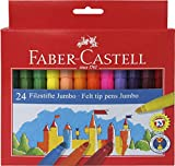 Faber-Castell 554324 - Jumbo Filzstifte, 24er Kartonetui