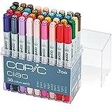 COPIC Ciao Marker Set D mit 36 Farben, alkoholbasierte Allround Layoutmarker, im praktischen Acryl-Display zur Aufbewahrung und einfachen Entnahme