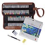 Marco 72 Buntstifte Wachsbasiert,mit Roll Canvas Bag, Malbücher Zeichnen, Schreiben, Skizzieren, Kritzeln, für Künstler, Erwachsene, Kinder