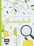 Ausmalen für Senioren – Gartenglück: Große Motive, klare Linien, einfache Formen ausmalen