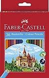 Faber-Castell 120136 - Farbstifte 'Castle', 36 Stifte im Etui und 1 Spitzer
