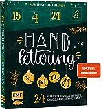 Mein Adventskalender-Buch: Handlettering X-Mas!: 24 weihnachtliche Sprüche, Alphabete, Schmuckelemente, Vorlagen und mehr – Mit perforierten Seiten