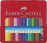Faber-Castell F112423 112423 - Farbstift Colour Grip Blechetui 24er