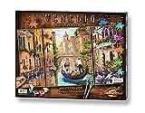 Schipper 609260736 Malen nach Zahlen, Venedig die Stadt in der Lagune - Bilder malen für Erwachsene, inklusive Pinsel und Acrylfarben, Triptychon, 50 x 80 cm