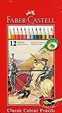 Faber-Castell 115844 - Buntstifte Classic Colour, 12er Metalletui