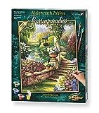 Schipper 609130379 Malen nach Zahlen, Gartenparadies - Bilder malen für Erwachsene, inklusive Pinsel und Acrylfarben, 40 x 50 cm