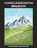 Schöne Landschaften Malbuch: Einfaches Malbuch für Senioren und Erwachsene, 25 professionelle Großdruck-Illustrationen für Stressabbau und Entspannung (Grüne Landschaften Malseiten, Band 1)