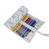 Moonli 36löcher Bleistift Rolle Fall für Künstler, Schule, Büro, Buntstifte Wickeln Aufbewahrung Mehrzweck-Schutzhülle (keine Bleistifte im lieferumfang enthalten) Shivering