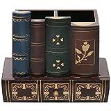 Stiftebecher aus Holz im Bücherdesign, dekorativ fürs Büro